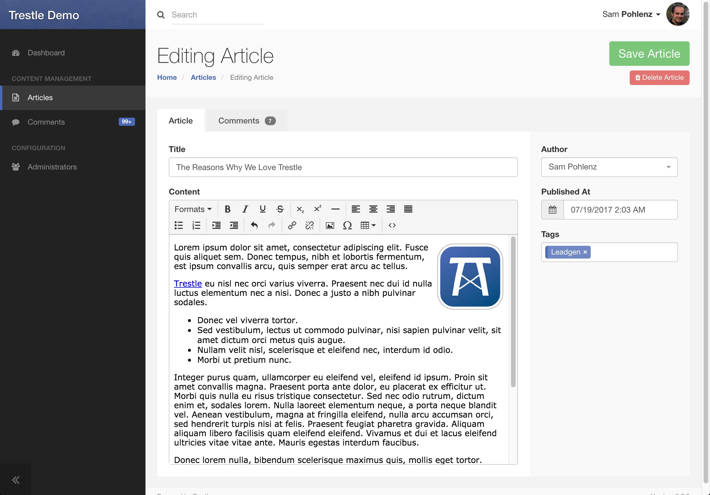 Trestle :: A modern, responsive admin framework for Ruby on